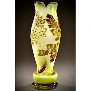 Vase En Cristallerie VernissÉe Emile Galle