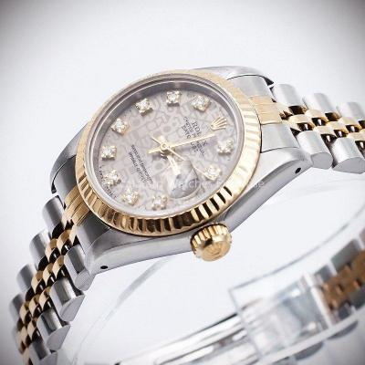 "Rolex Lady Datejust or/acier Réf : 69173 ""Logo Dial Diamonds"" -1987-"