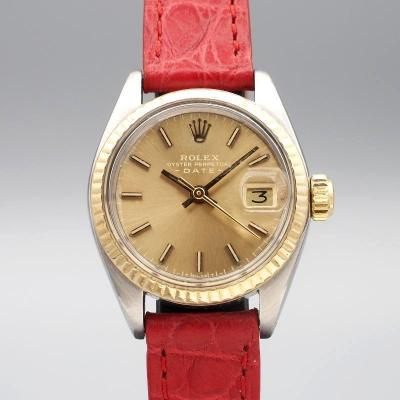 Rolex Lady Oyster Perpetual Date Or/acier Réf.6917 Cal.2030 -1979-