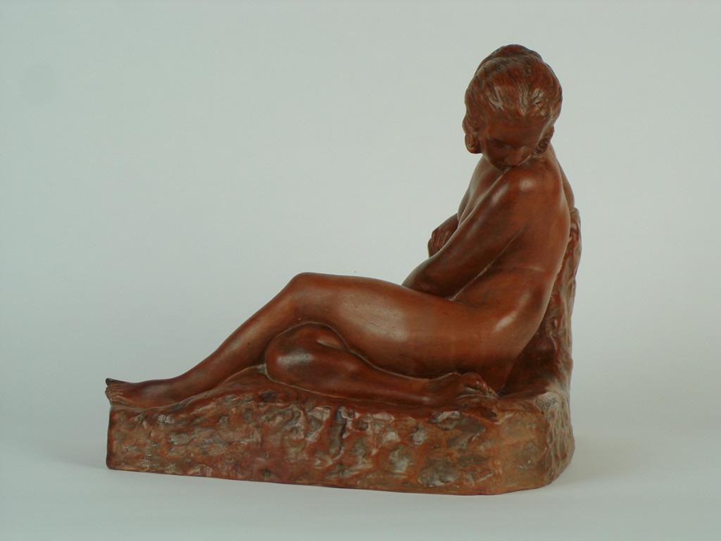 Sculpture En Terre Cuite Par Marcel Bouraine