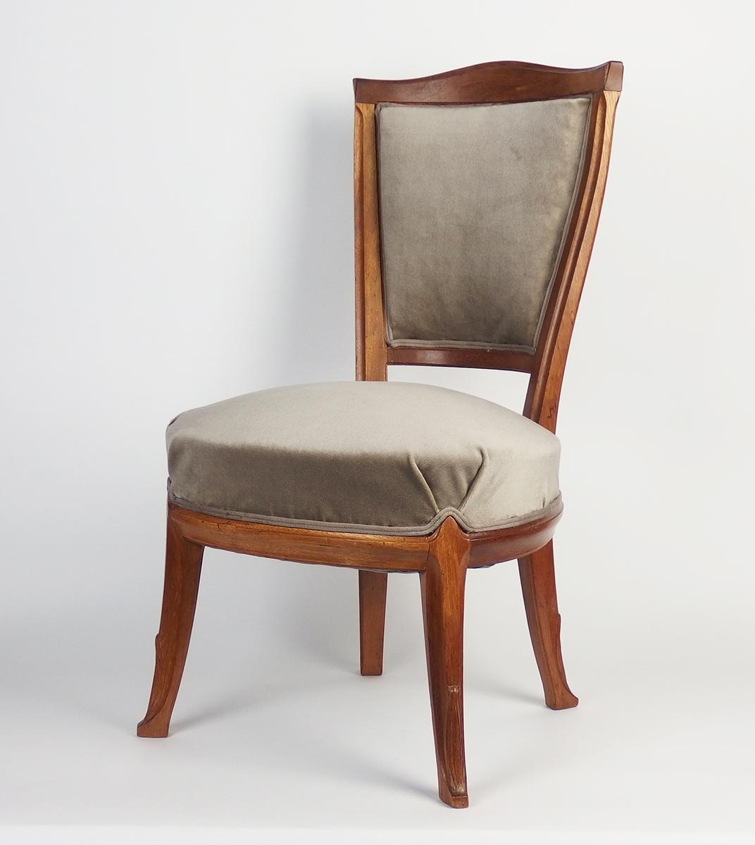chaise art nouveau attribu e tony selmersheim chaises tabourets. Black Bedroom Furniture Sets. Home Design Ideas