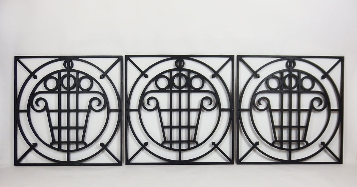 Five Art Deco Garden Fences.
