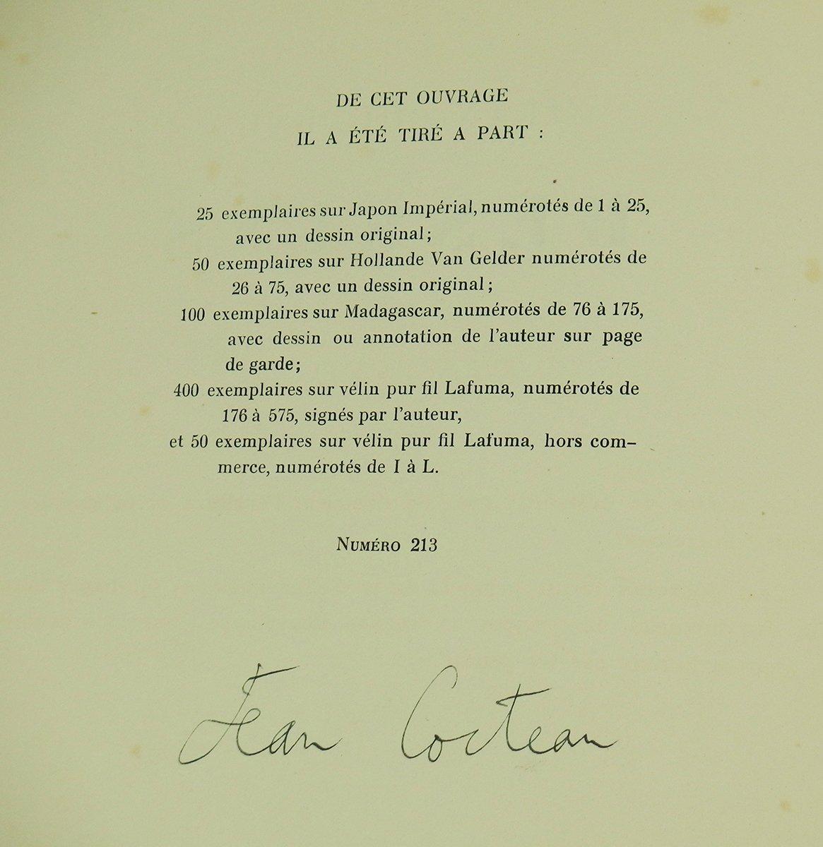 Dessins par Livre par  Jean Cocteau-photo-1