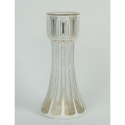 Vase En Verre Overlay De Style Secession