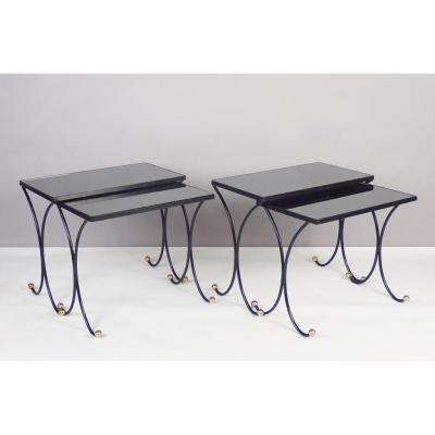 Four 1950's Nesting Tables