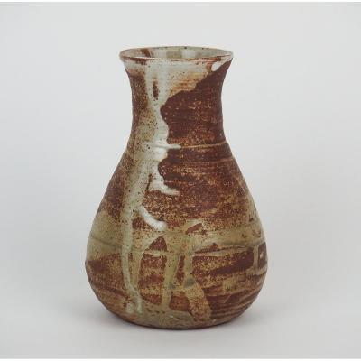 Vase En Grés De Puysaye Par Pierre Lion