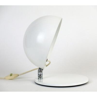 """table lamp of the """"21 series"""" in lacquered steel and metal with an adjustable shade, created by Alain Richard for Disderot circa1965, France. Good condition. Height of the lamp, shade folded: 14cm."""