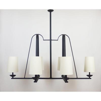A 1950's-60's Wrought Iron Chandelier