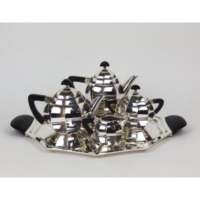 Tea And Coffee Service By Maurice Dufrene For Gallia / Christofle