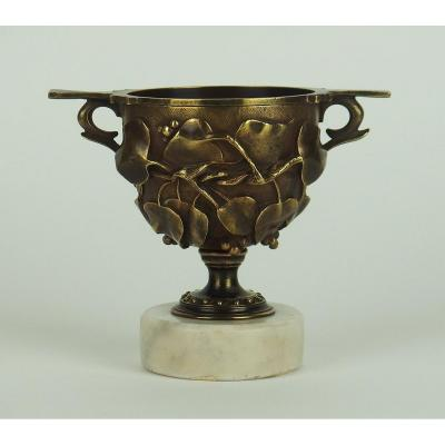 Bronze Cup In The Taste Of Antique Attributed To Barbedienne