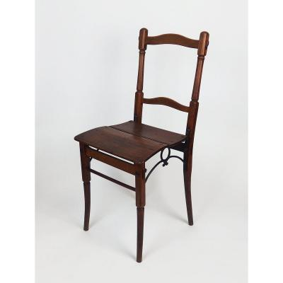 19th Century Wooden And Cast Iron Chair