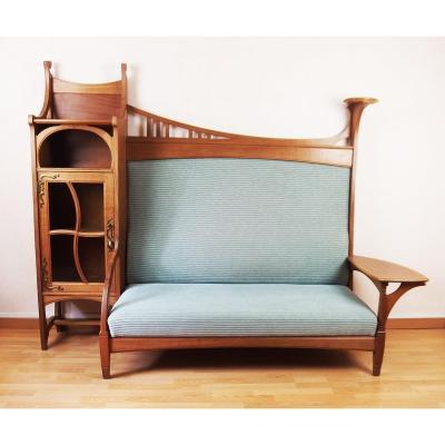 Art Nouveau Sofa Bookcase By Gustave Serrurier Bovy