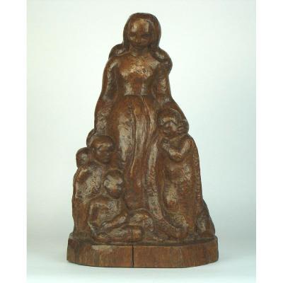 Sculpture En Bois par Scalbert