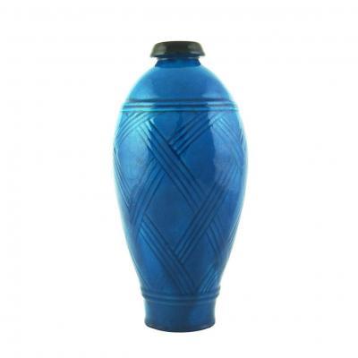Vase Art Deco En Céramique Par Primavera