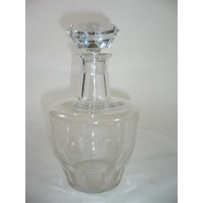 Carafe A Vin Cristal Baccarat Signee Art Deco 1940 Crystal Wine Pitcher Signed