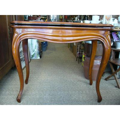 Table A Jeu Louis Philippe Style Louis XV Acajou Game Table Mahogany 19th C