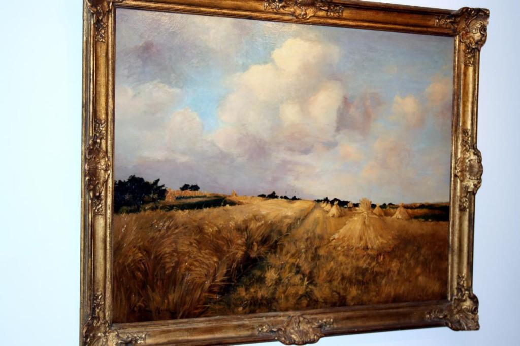ETIENNE PHILIPPE MARTIN (1856+1945) LES MOISSONS EN PROVENCE