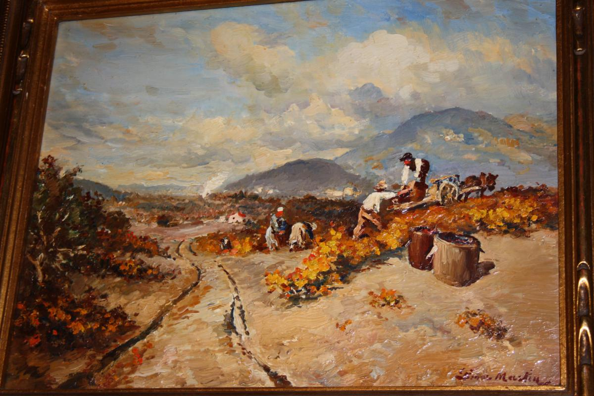 Etienne Philippe Martin (1856+1945) Les Vendanges A Gaubert