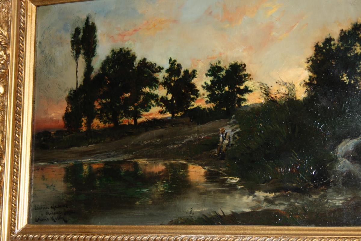 Etienne Philippe Martin (1856+1945) Bord De Bleone Aux Sieyes