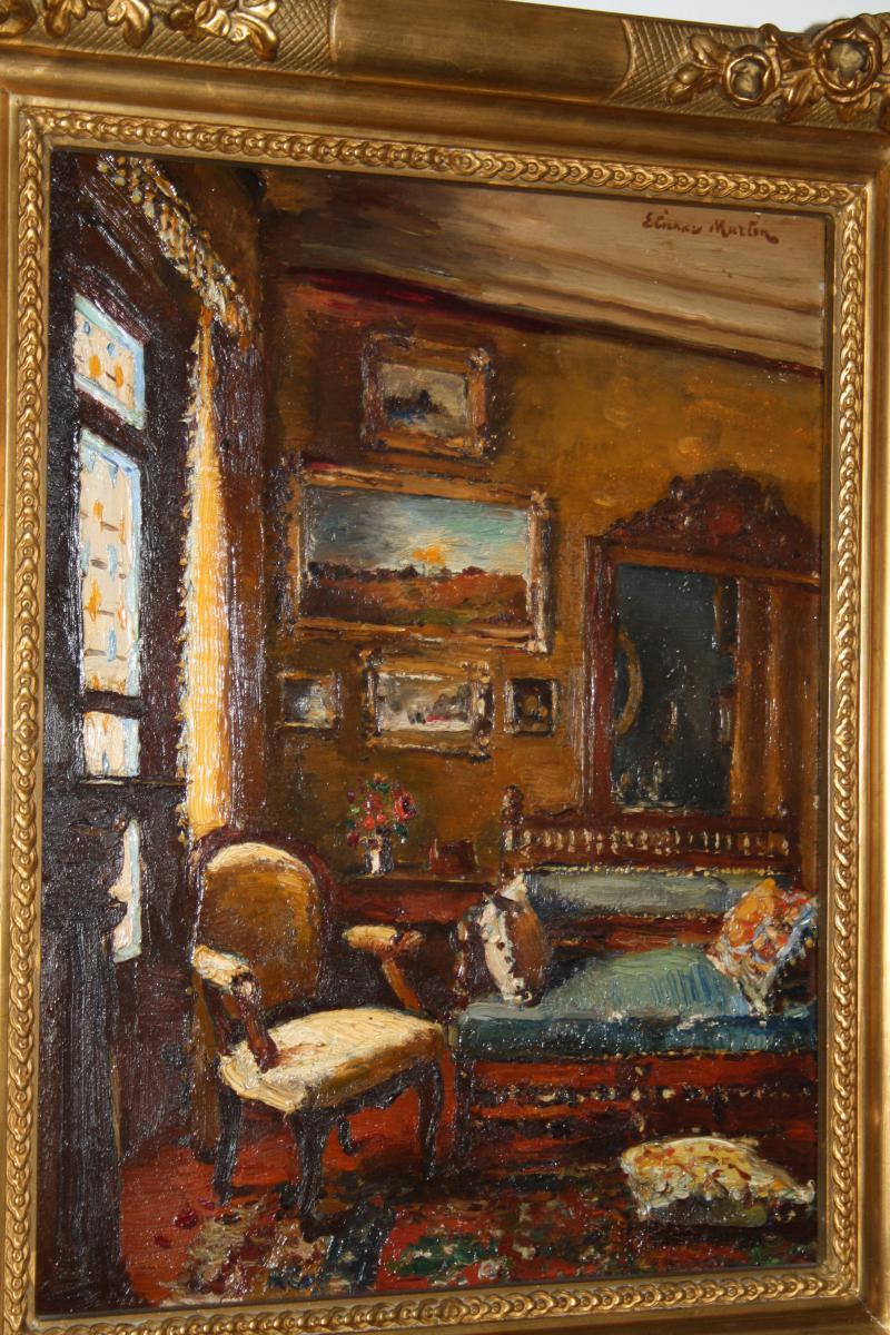 Etienne Philippe Martin (1856+1945) Le Salon A Marseille