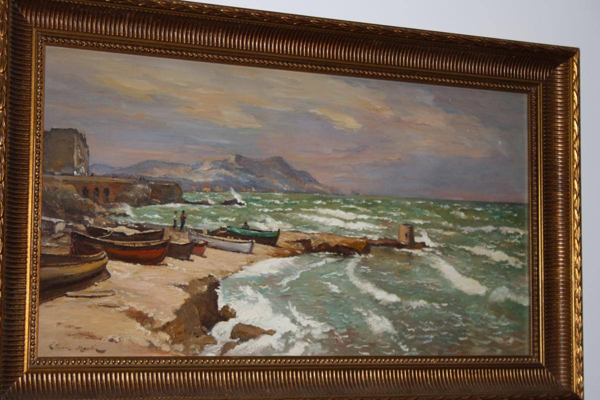 Etienne Philippe Martin (1856+1945) La Corniche A Marseille