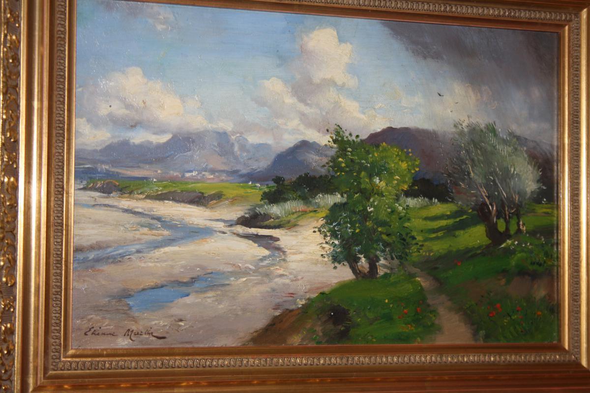 Etienne Philippe Martin (1856+1945) Bord De Bleone A Digne