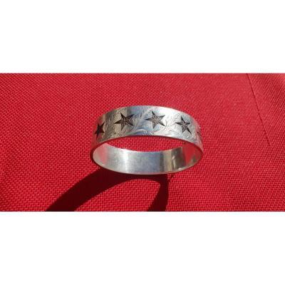 Bracelet Argent Etoile Saint Vincent Digne 19 em siecle