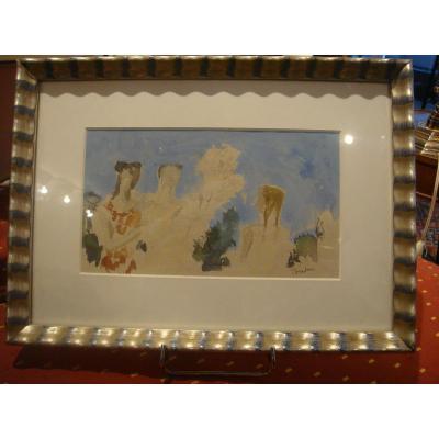 Aquarelle d' Andrée Albert Tondu (1903-1980)