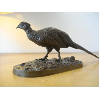 Petit Bronze Faisan par Pierre Jules Mène