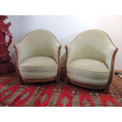 Pair Of Art Deco Armchairs 1925