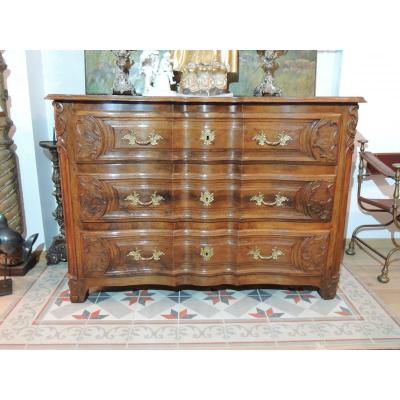 Lyonnaise Commode In Walnut 18th Century.