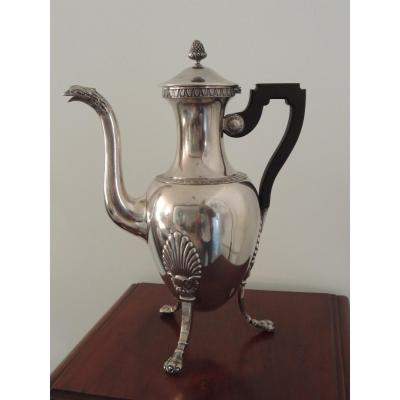 Empire Style Jug In Silver Metal ""