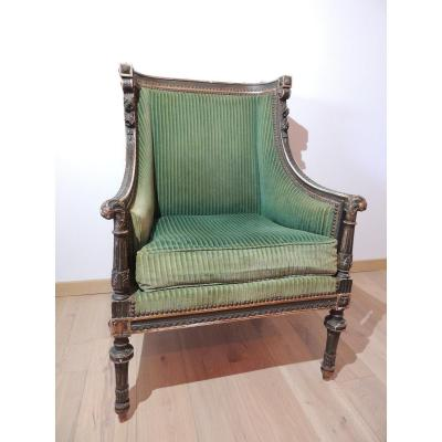 Antique Louis XVI Style Bergère From The 19th Sciécle