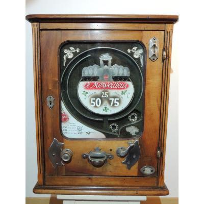 """machine à sous ancienne modèle à billes """" le merveilleux """" de 1934"""