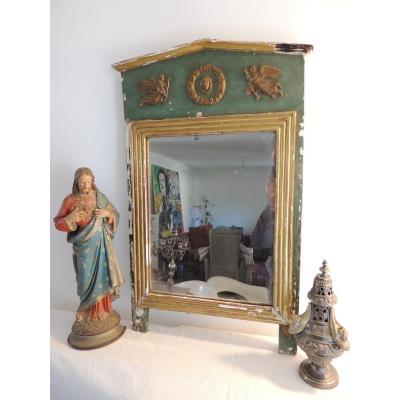 Glace Miroir Trumeau Empire Du 19 ème Siècle