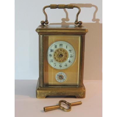 Pendule, Réveil d'Officier, Pendulette De Voyage , Horloger Flory à Nîmes , 19 ème Siècle