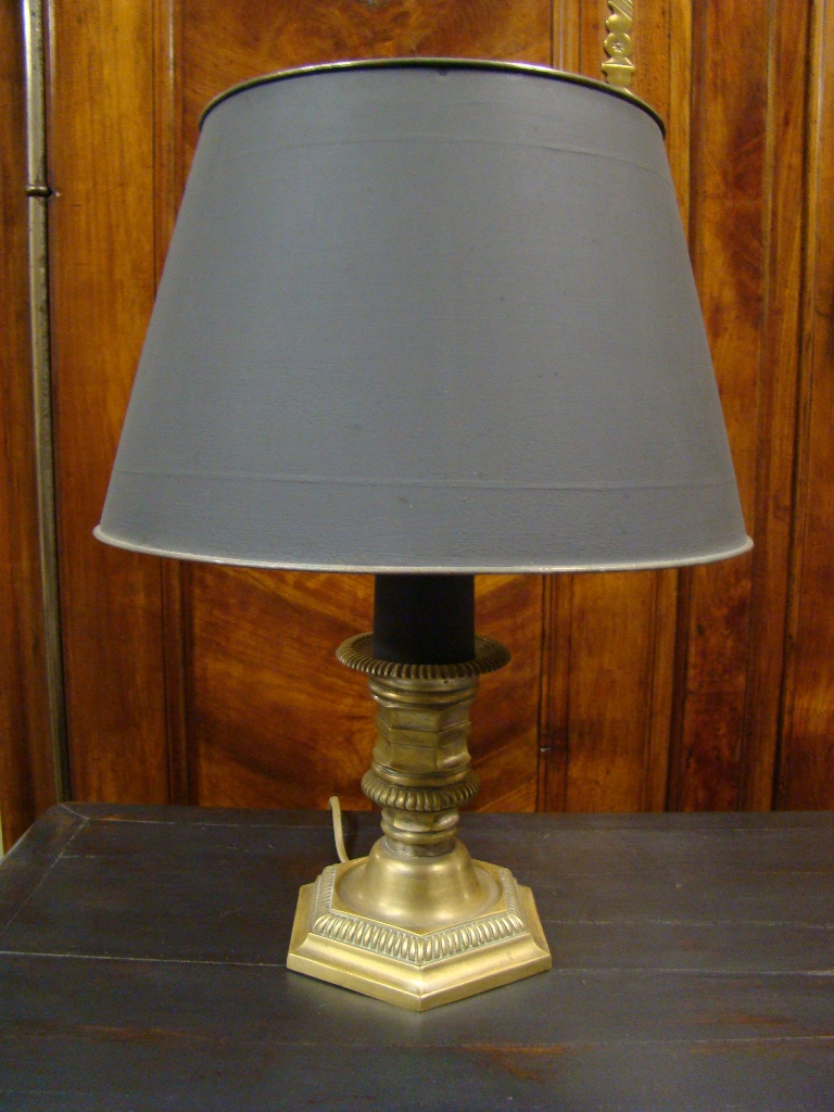 Gilt Bronze Desk Lamp. Early Twentieth