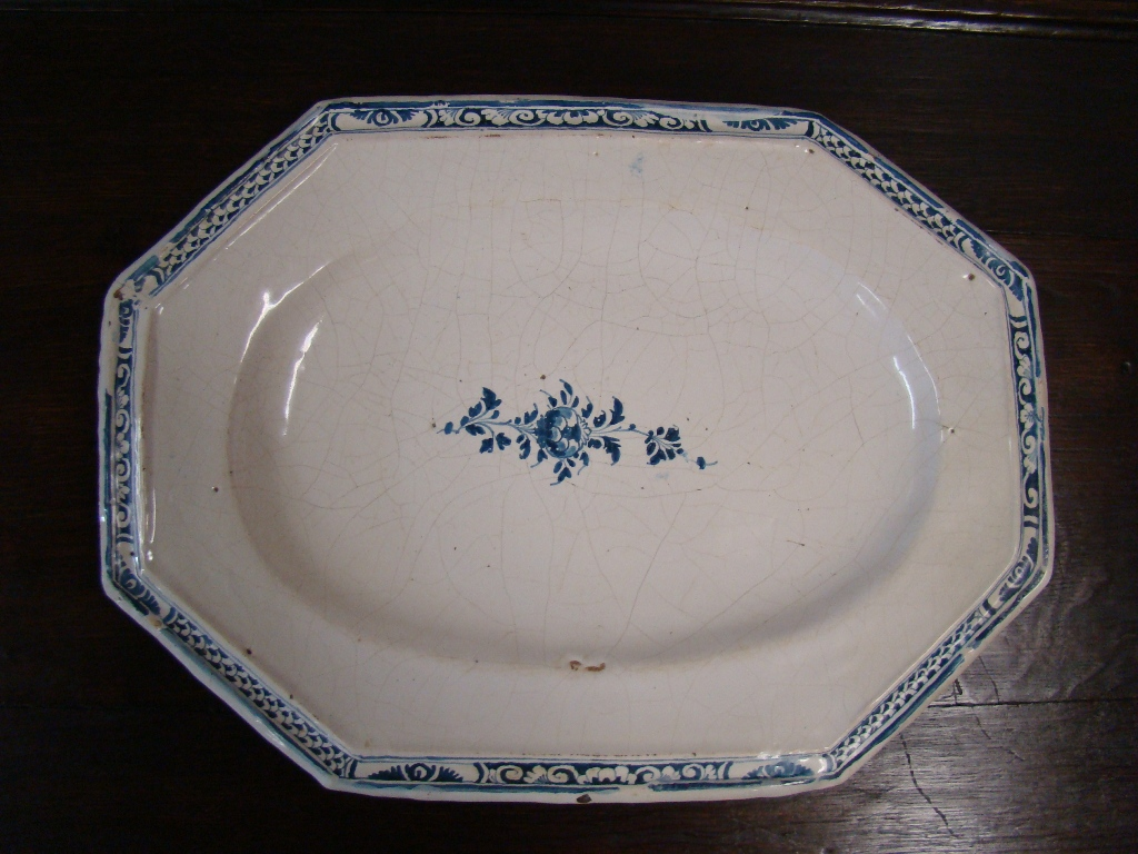 Great Dish In Earthenware. 18th Century
