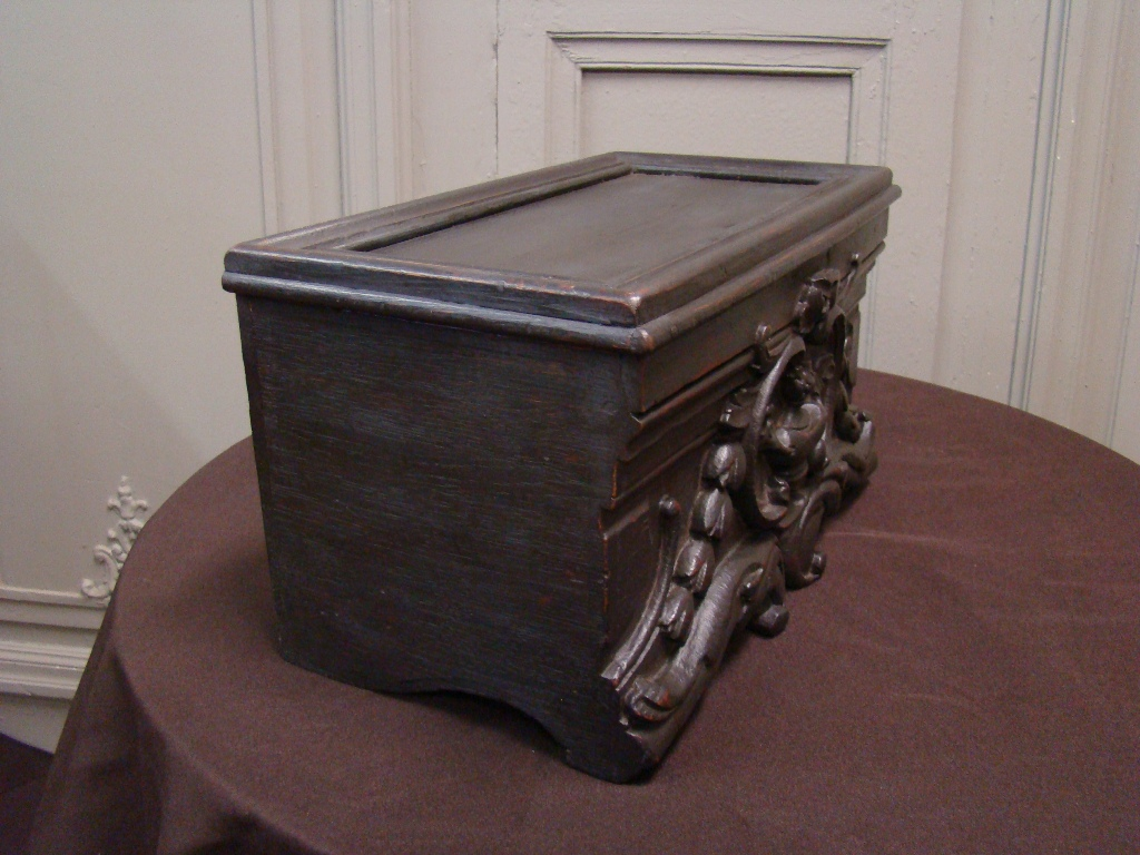 Wooden Box Popular Art. 19th Century-photo-2