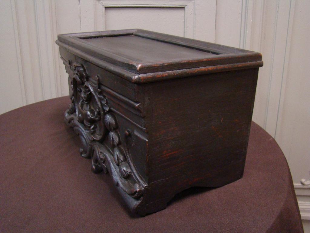 Wooden Box Popular Art. 19th Century-photo-3