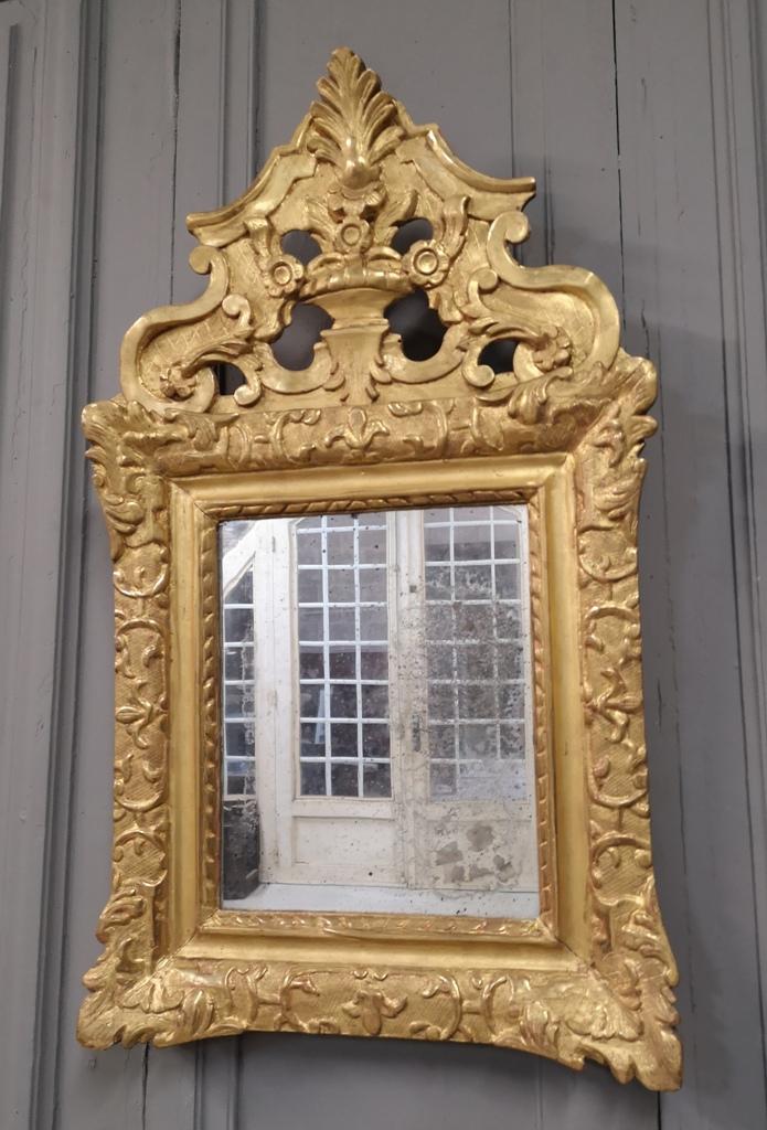 Miroir à Fronton Ajouré d'époque Régence