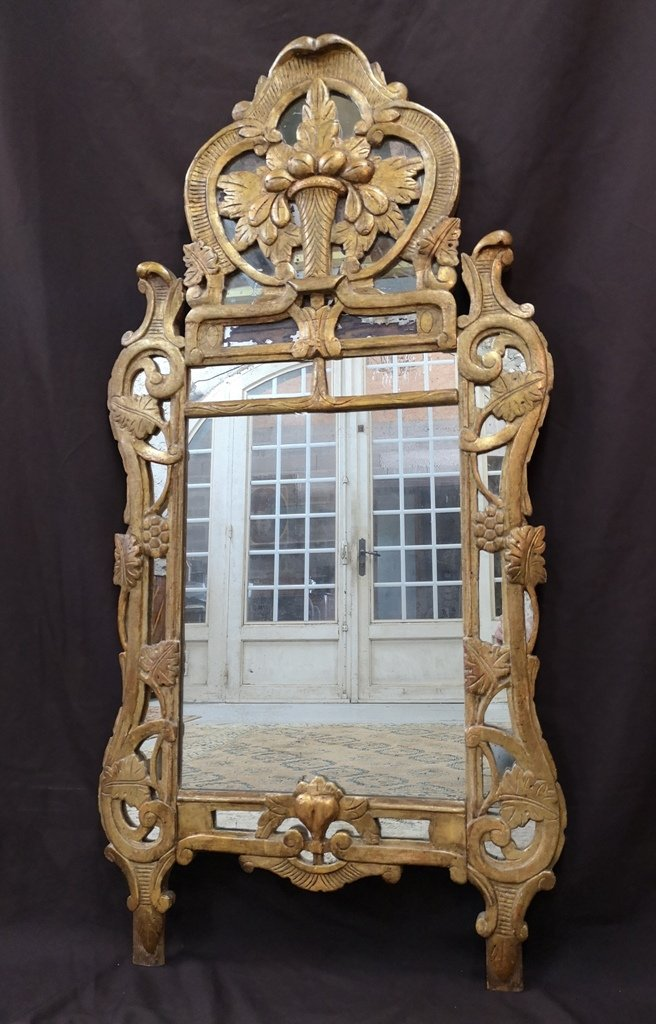 "Provencal Mirror Said ""beaucaire"" Louis XV Period. Middle XVIII"