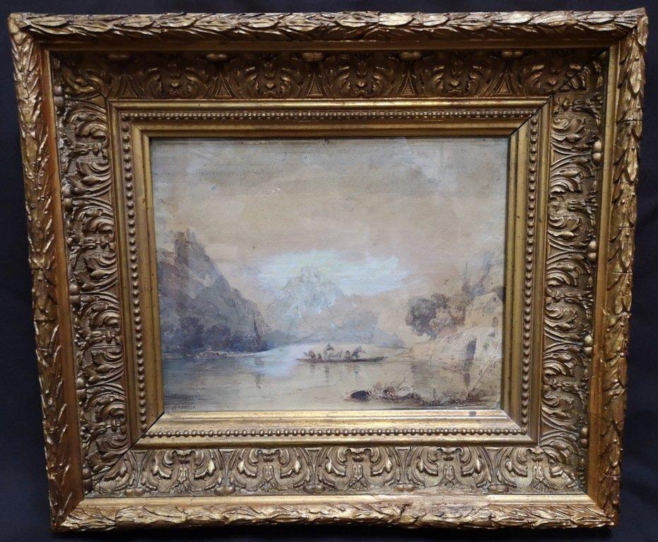 Alexandre-thomas Francia (1815-1884). Dessin Au Lavis Brun Et Gouache Blanche