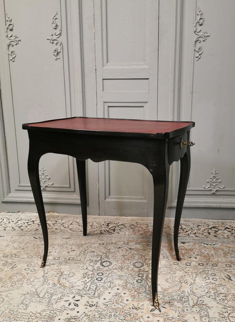 Table écritoire d'époque Louis XV Laquée Noir