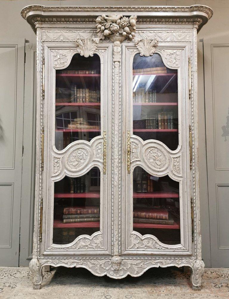 Bibliothèque Basse Normandie d'époque Fin XVIIIème / Début XIXème