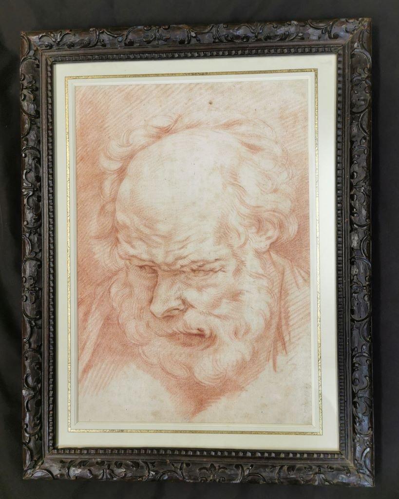 Portrait d'Un Vieil Homme. Suiveur De Jacob Jordaens. Début XVIIIème