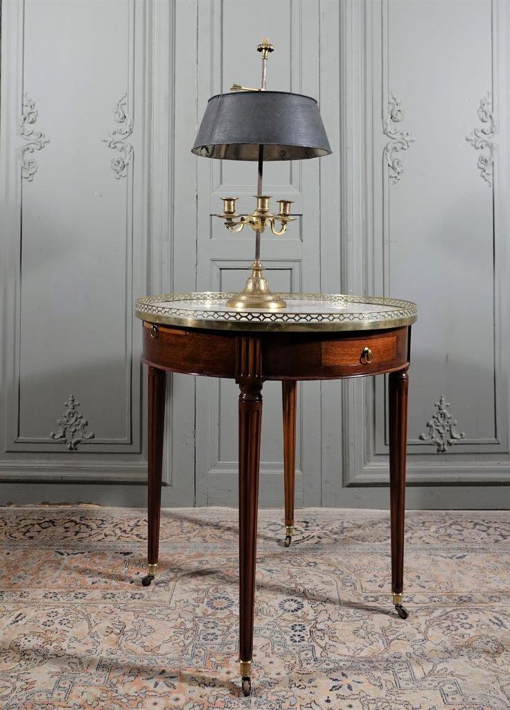 Table Bouillotte d'époque Louis XVI En Acajou. Fin XVIIIème