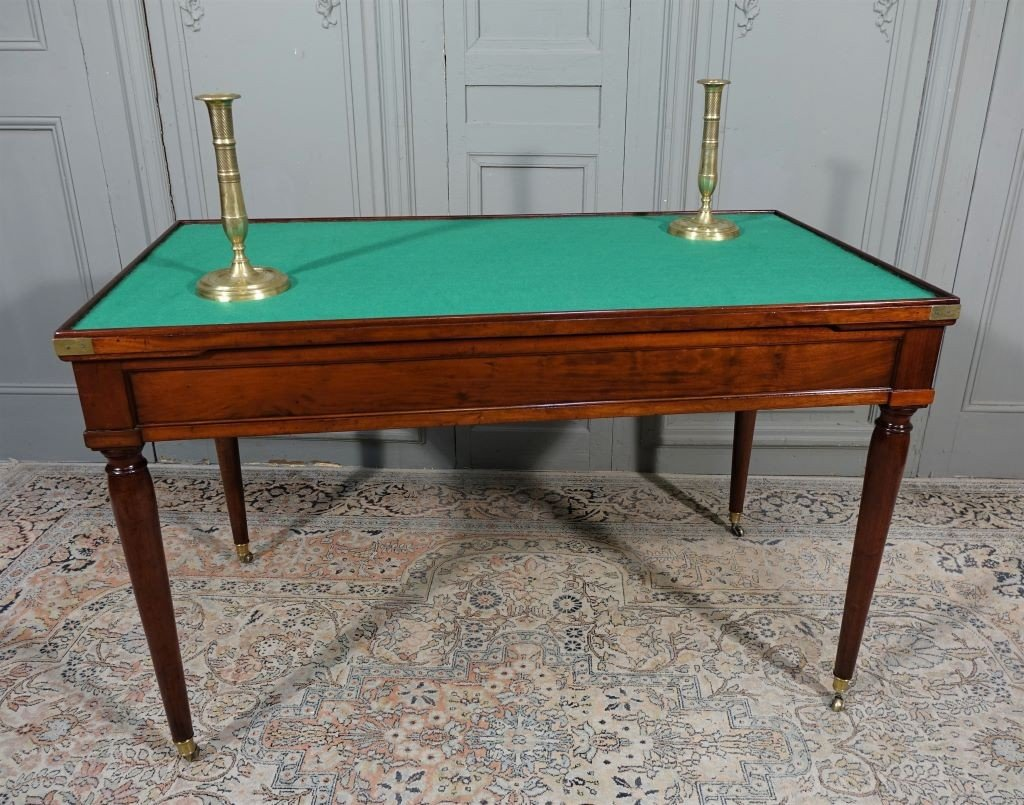 Table De Tric Trac d'époque Louis XVI Estampillée D.L ANCELLET-photo-4