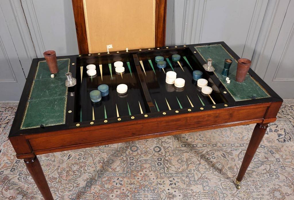 Table De Tric Trac d'époque Louis XVI Estampillée D.L ANCELLET-photo-6