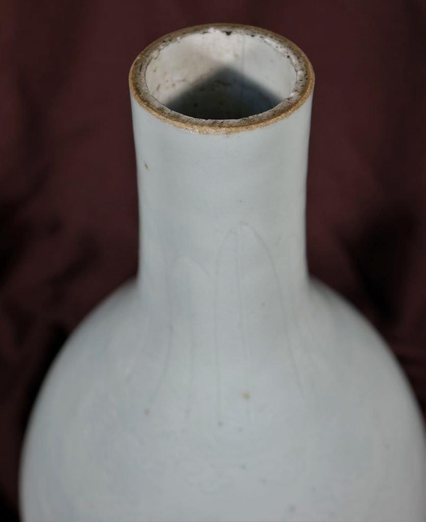 Vase En Porcelaine Céladon - Chine - Epoque Kangxi (1662-1722)-photo-2